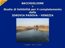 Bacchiglione e studio di fattibilita' dell'idrovia Padova-Venezia