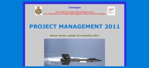La locandina del convegno Project management 2011