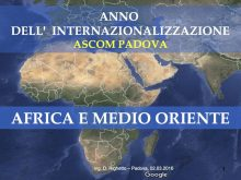 Internazionalizzazione - Africa e Medio Oriente