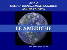 Internazionalizzazione -USA ed Americhe