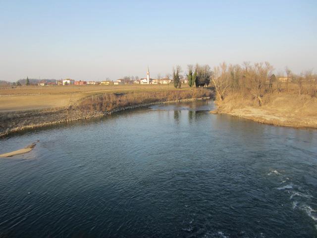 Il fiume Bacchiglione tra Vicenza e Padova