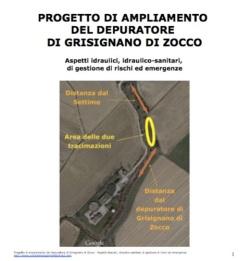 Progetto di ampliamento del depuratore di Grisignano - Aspetti idraulici, idraulico-sanitari, di gestione di rischi ed emergenze