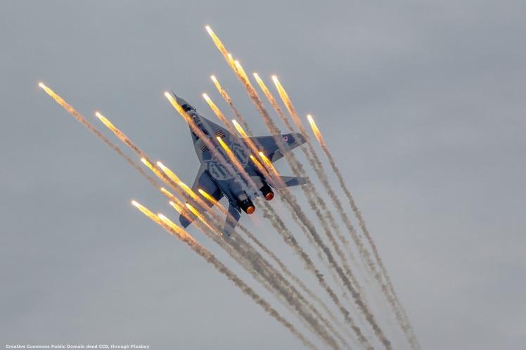Geopolitica - caccia Mig-29, come quelli che operano dalla portaerei russa Kuznetsov